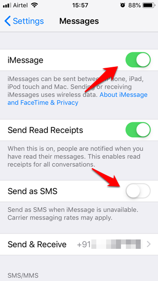 iPhone Not Sending Text Messages 3