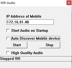 Stream Audio from PC to Android- wifi audio server