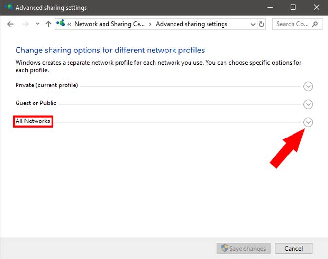 AllNetwork_FeatureImage option on windows pc settings