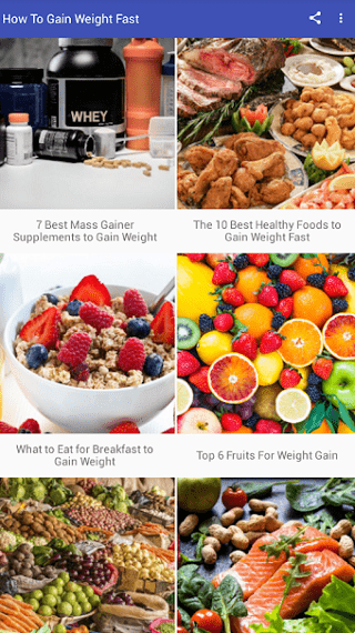 Android Apps to Gain Weight 7