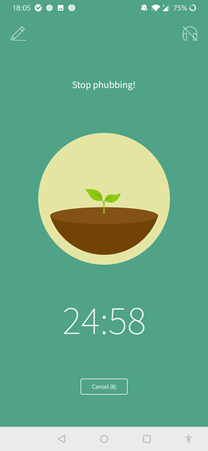 pomodoro apps for android- Forest
