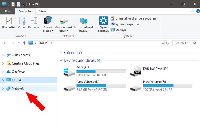 NetworkTab_ClickON option on windows pc settings