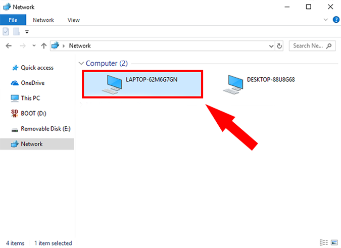 SelectLaptop option on windows pc settings