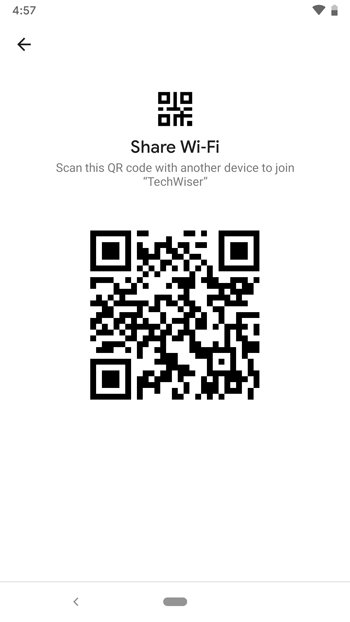Share WiFi without password- QR code