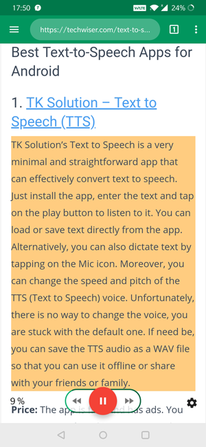 android text to speech app- T2S