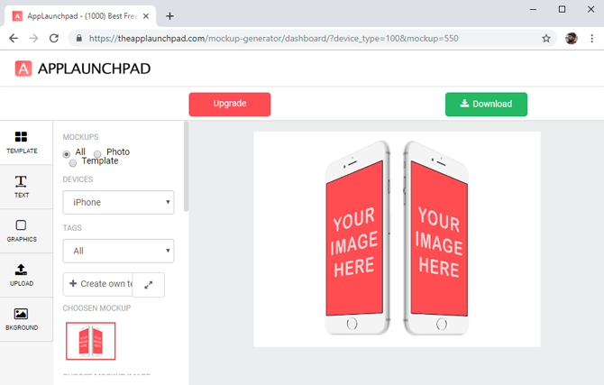 best mockup tools- App launchpad