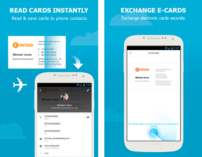 Business Card Scanner Apps- gg