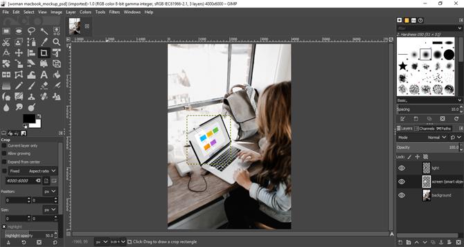 open psd without photoshop- gimp