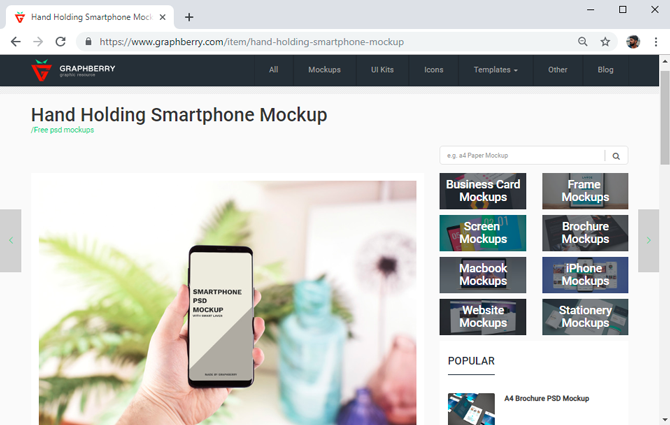 best mockup tools- graphberry