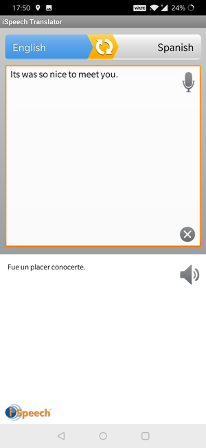 android text to speech app- iSpeech