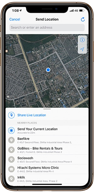 7 Ways to Send your Location (GPS coordinates) to Someone