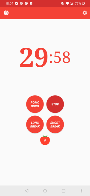 pomodoro apps for android- pomicro