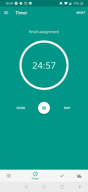 pomodoro apps for android- scheduler