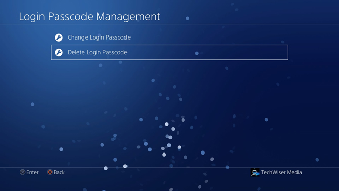 put a password on PS4- management