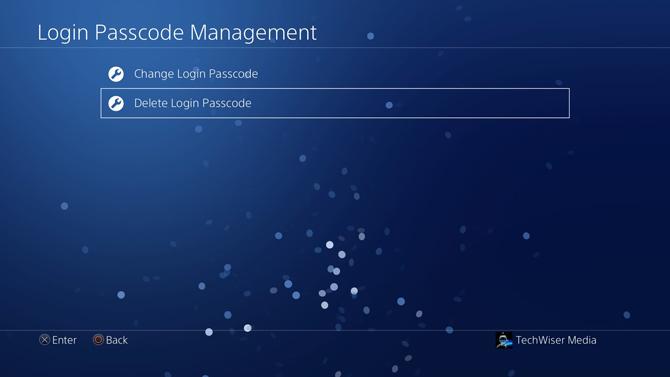 put a password on PS4- management