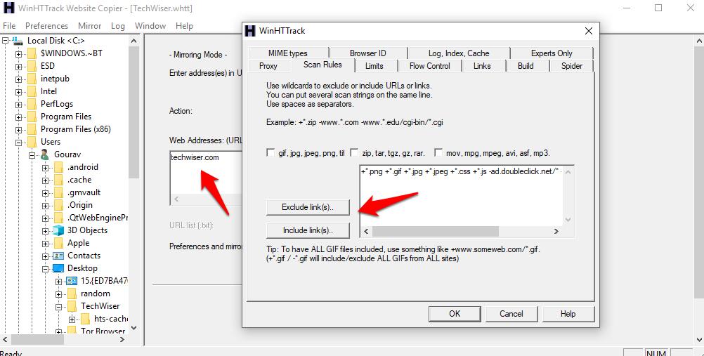 Download Entire Websites for Offline Access 1
