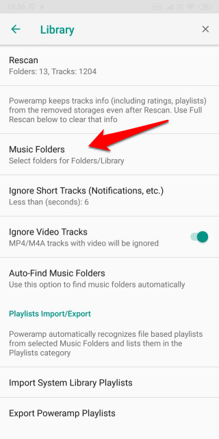 Hide Audio Files in Music Player Apps 7