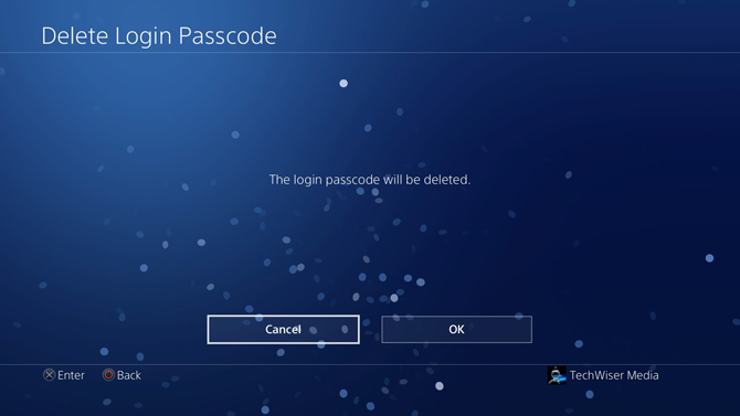 put a password on PS4- deleted