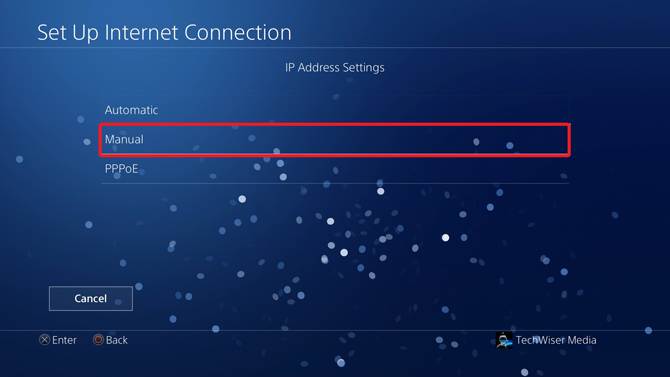 change dns on ps4- manual