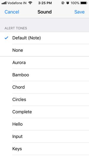 whatsapp custom notification- default