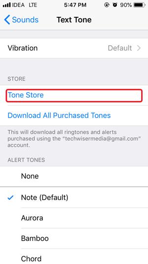 whatsapp custom notification- tone store