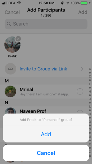 Stop People from Adding You to WhatsApp Groups- add