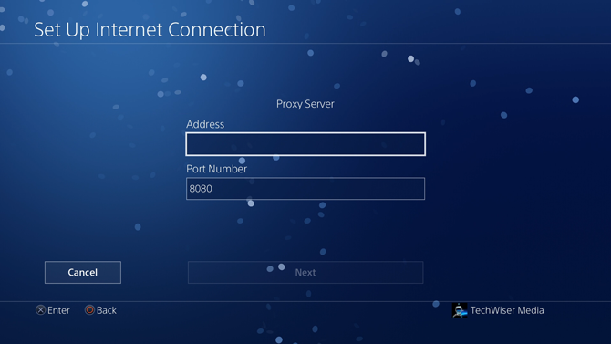 change dns on ps4- proxy server
