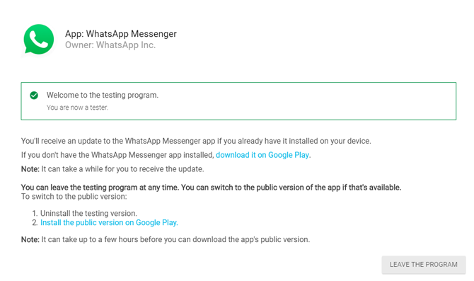 Stop People from Adding You to WhatsApp Groups- beta program