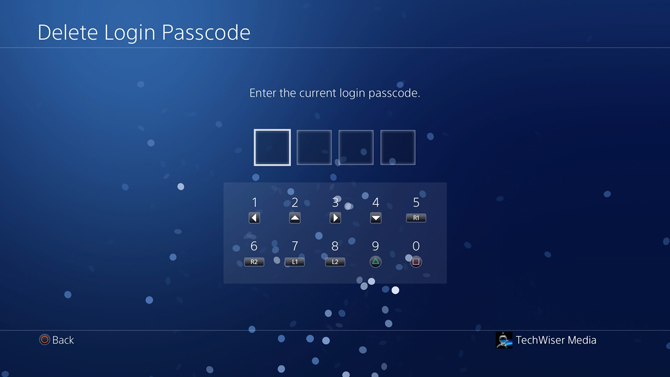 put a password on PS4- login passcode