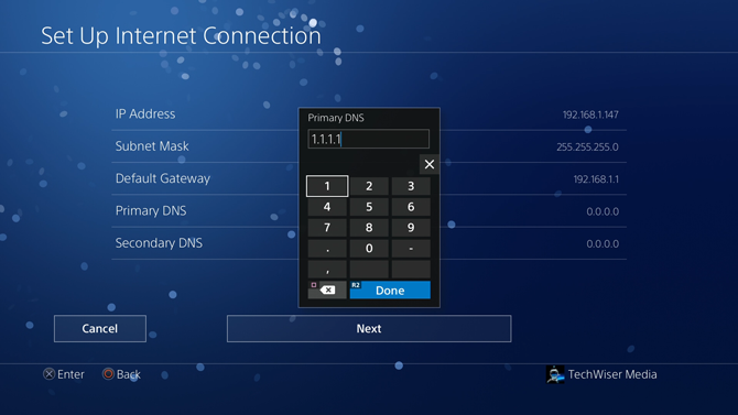 change dns on ps4- dns
