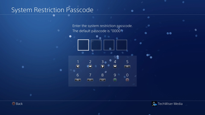 put a password on PS4- passcode