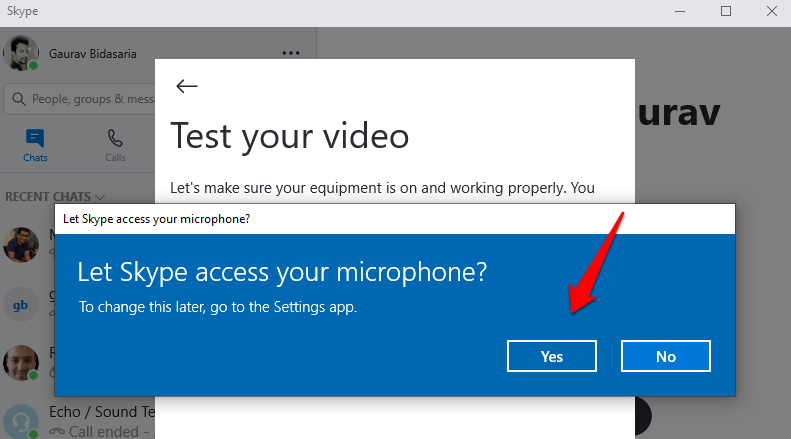fix skype microphone not working issue 1