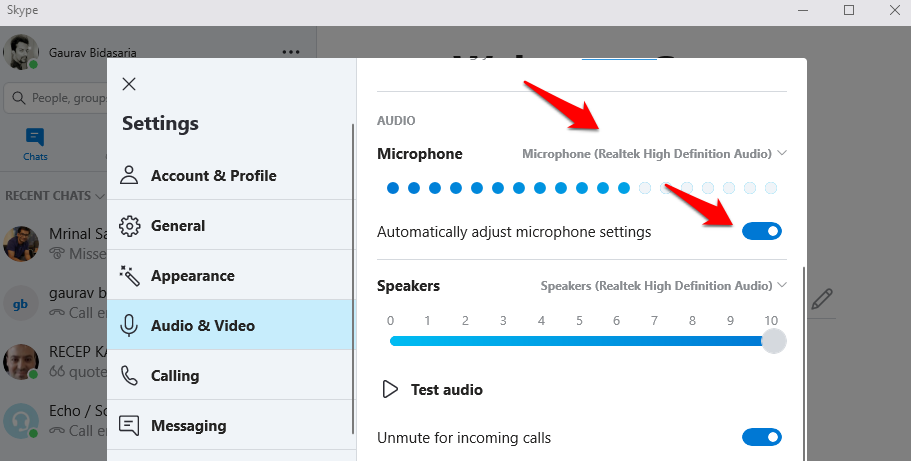 fix skype microphone not working issue 6