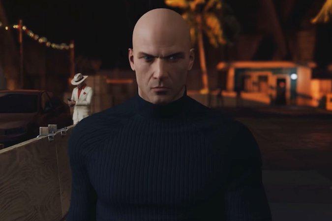 hitman- Bald guy in a sweater