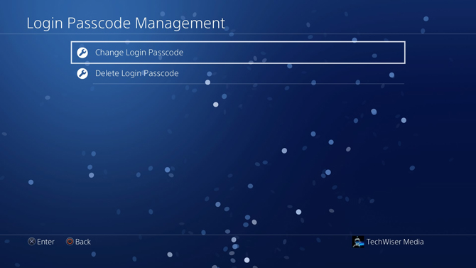 put a password on PS4- change