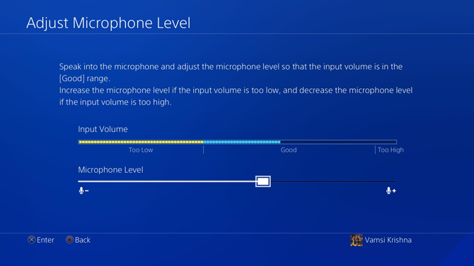 Get Audio from PS4 Controller Audio Jack- adjust microphone level