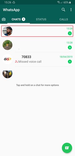 chat whatsapp custom notification-