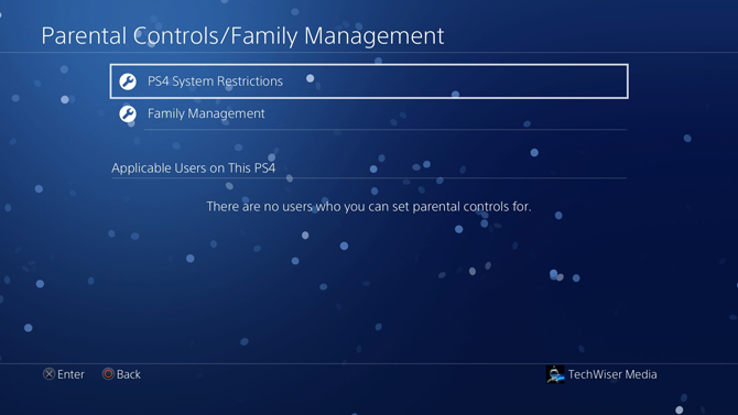 put a password on PS4- system restrictions