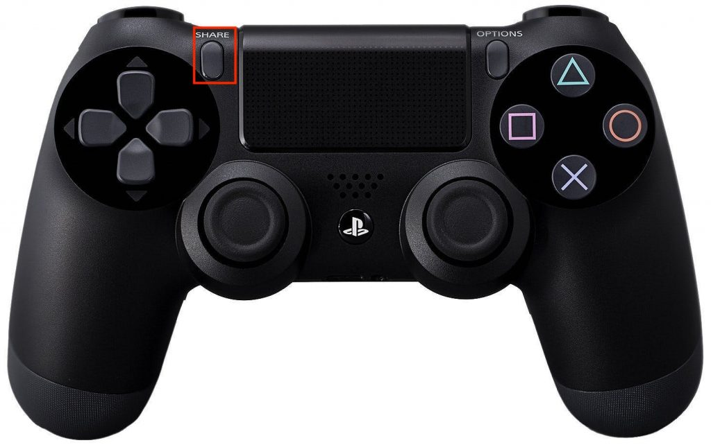 ps4_controller - share option