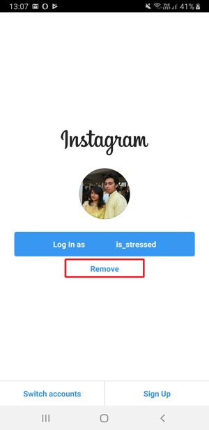 remove saved login info on Instagram- 1
