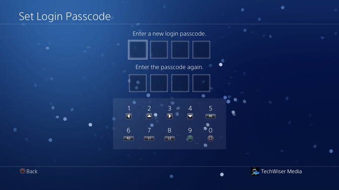 put a password on PS4- set new