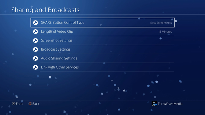 Take Screenshots on PS4- share button control type