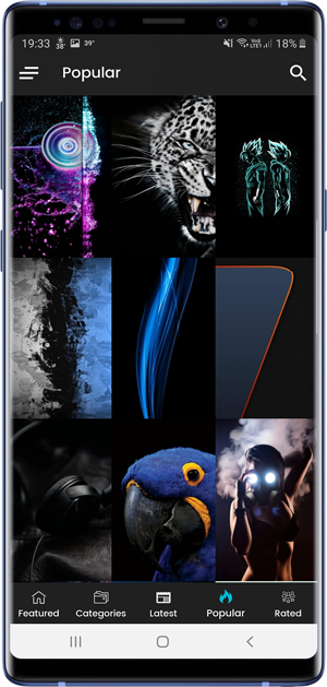 apps with dark mode- AMOLED wallpapers