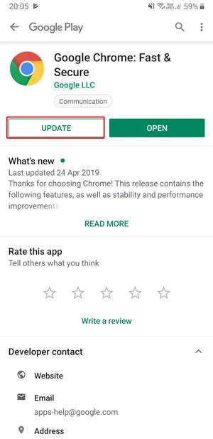 Dark mode on Google Chrome- update