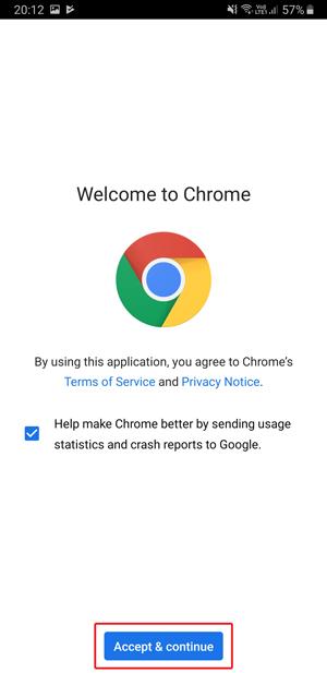 Dark mode on Google Chrome- accept