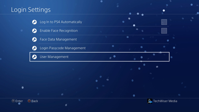 put a password on PS4- user management