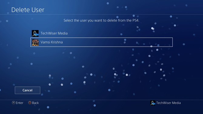 put a password on PS4- user