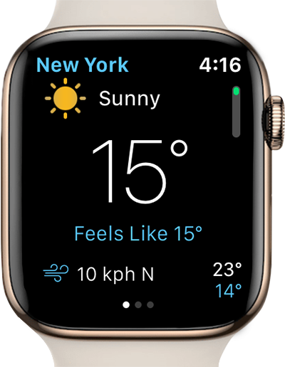 weather mate app apple watch