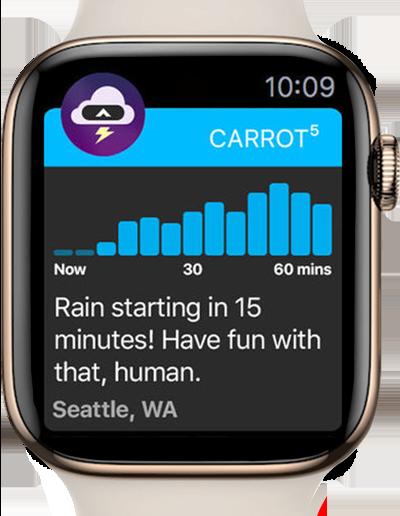 carrot weather app apple watch