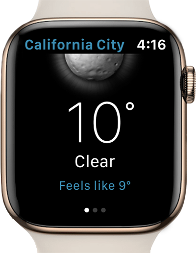 Weather Live app apple watch
